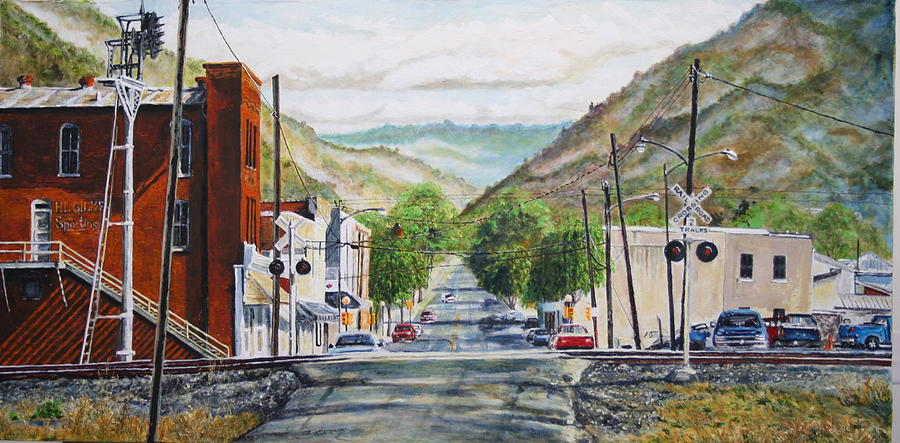 Appalachia Painting - Rainbow In Rust by Thomas Akers