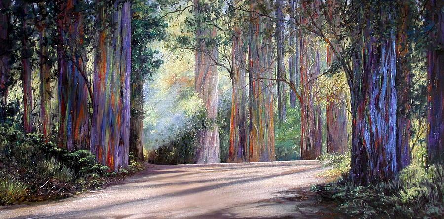Rainbow Painting - Rainbow Lane by Lily Adamczyk