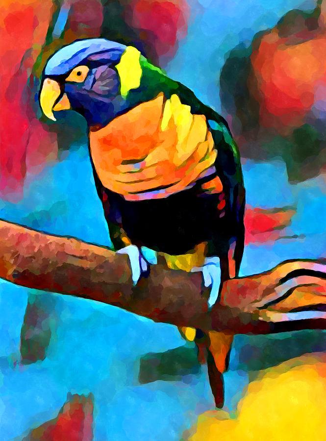 Bird Painting - Rainbow Lorikeet 6 by Chris Butler