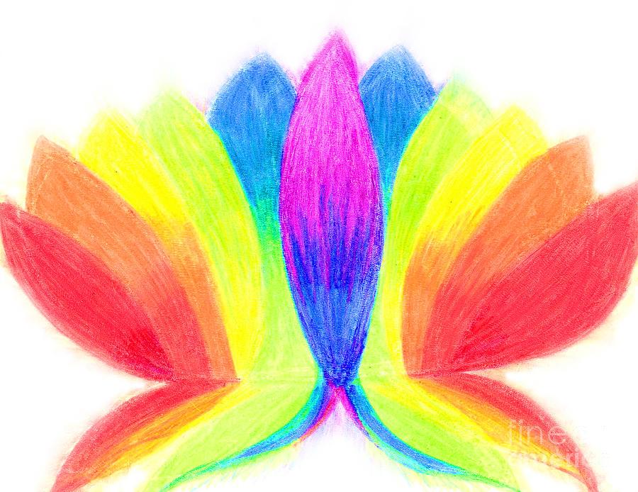 Lotus Pastel - Rainbow Lotus by Chandelle Hazen