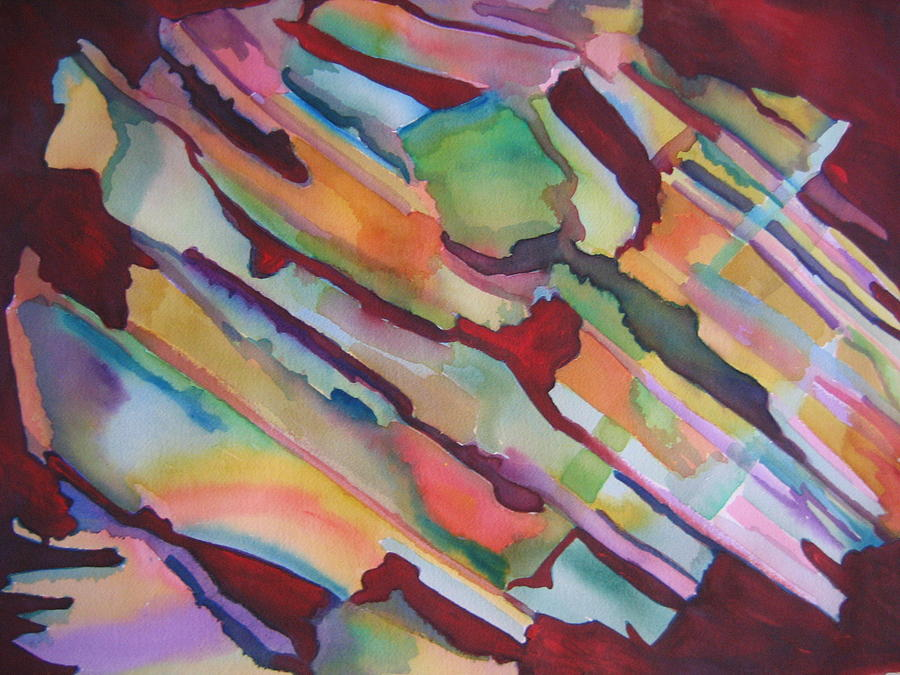 Abstract Painting - Rainbow by Marlene Robbins