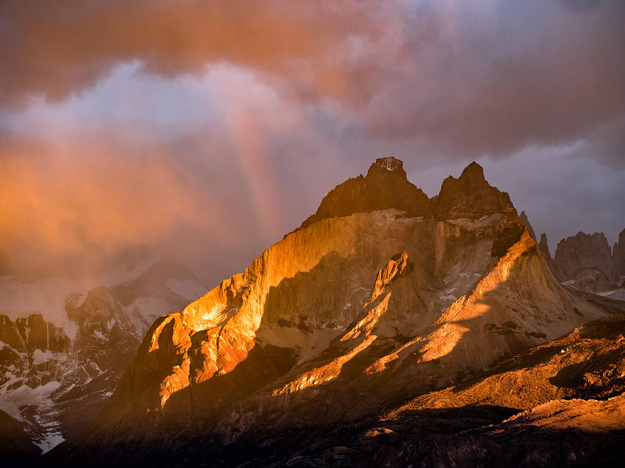 Andes Photograph - Rainbow Mountain In The Storm by Dan Leffel