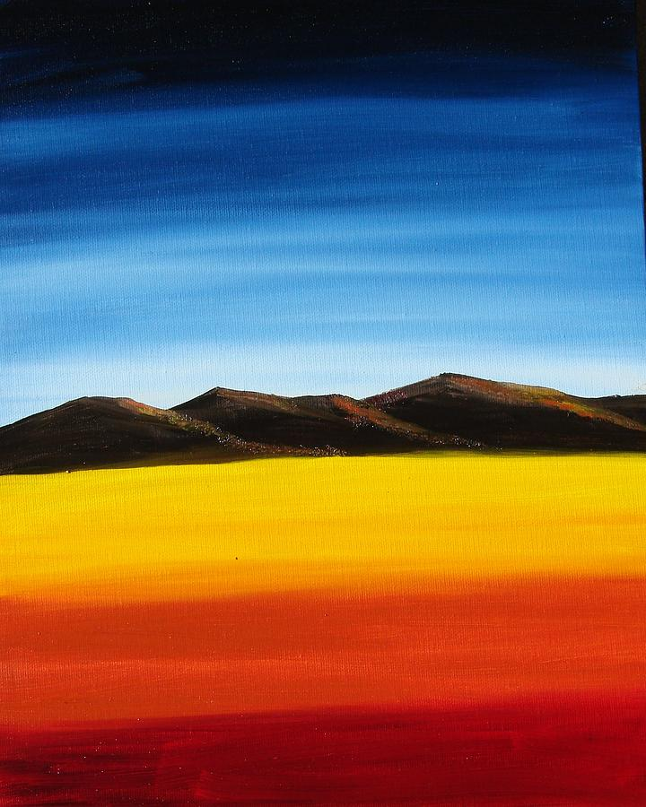 Mountains Painting - Rainbow Mountains by Liz Vernand