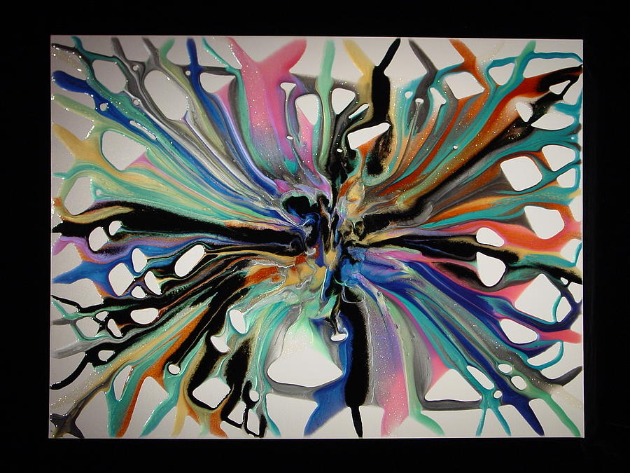 Abstract Painting - Rainbow Nebula 3 by Michael  Simon