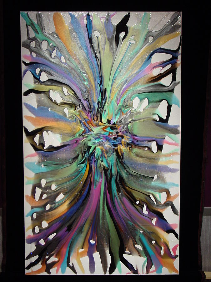 Abstract Painting - Rainbow Nebula 5 by Michael  Simon