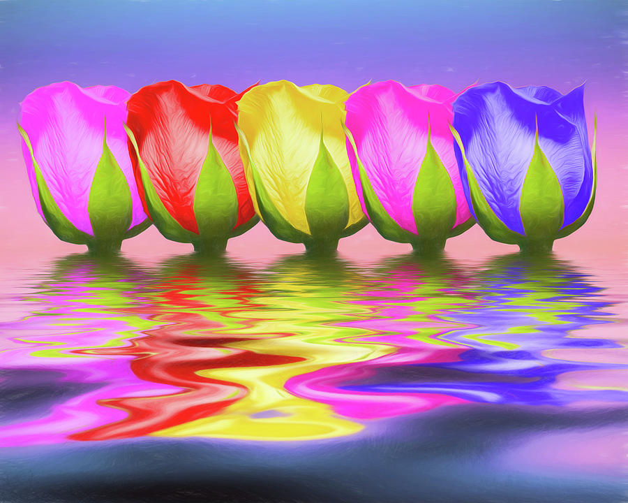 Rose Photograph - Rainbow Of Roses II by Tom Mc Nemar