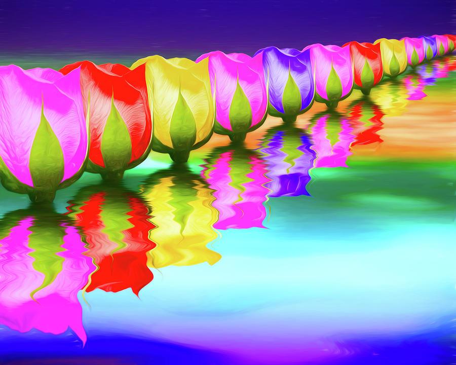Rose Photograph - Rainbow Of Roses IIi by Tom Mc Nemar
