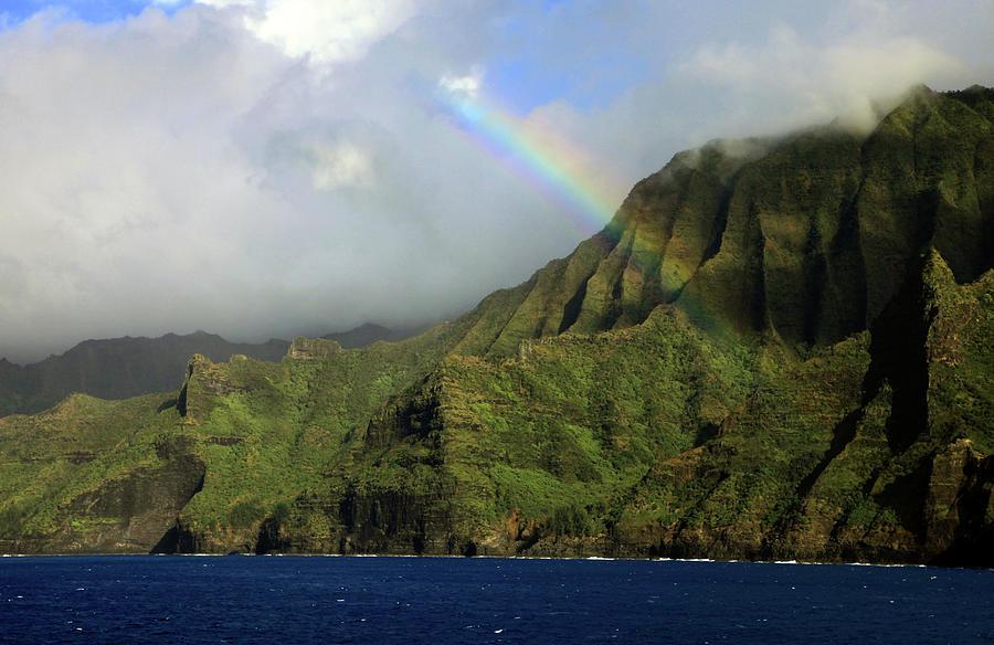 Rainbow Photograph - Rainbow on the Na Pali Coast by Dan Pearce