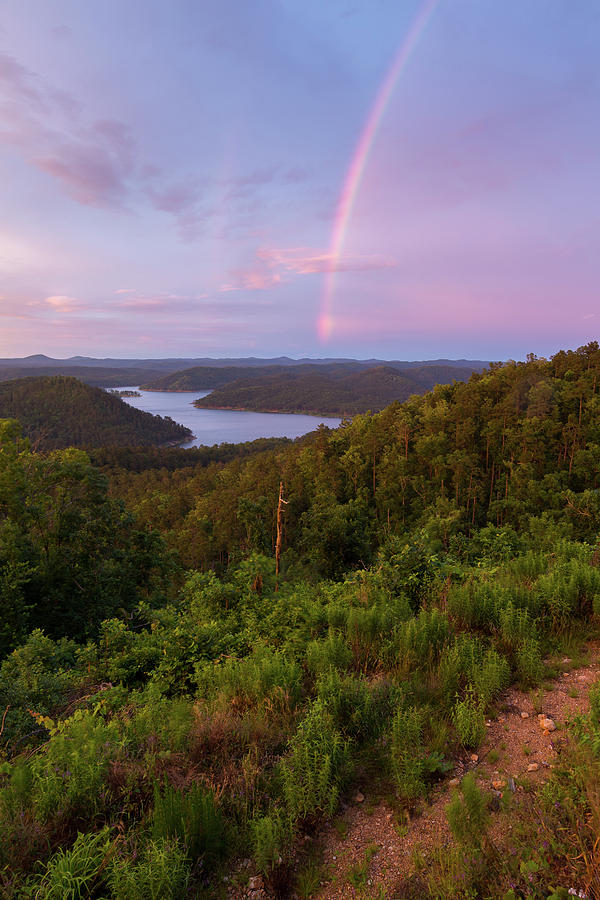 Oklahoma Photograph - Rainbow Over Broken Bow Lake by Ryan Friesen