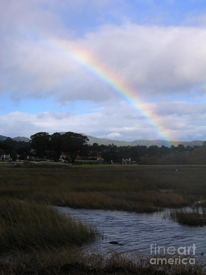 Rainbow Over Carmel Wetlands by James B Toy