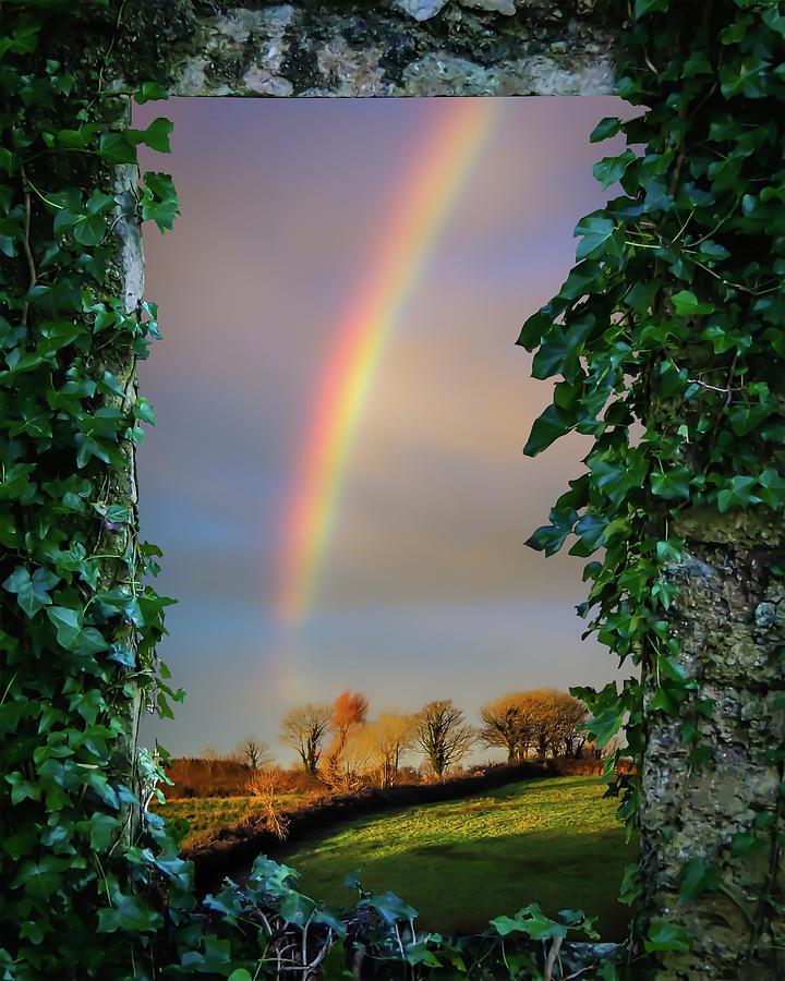 Ireland Photograph - Rainbow Over County Clare, Ireland, by James Truett