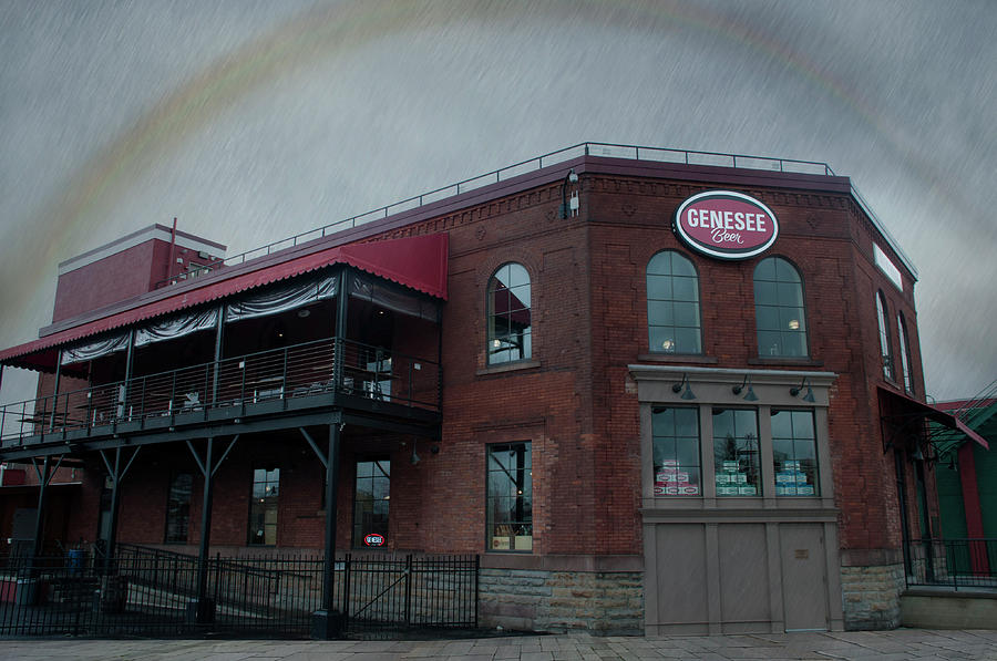 Rainbow over Genesee Beer by Ed Cabral