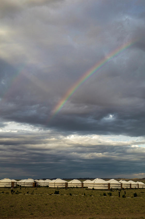 Rainbow over Ger camp, Gobi, 2016 by Hitendra SINKAR