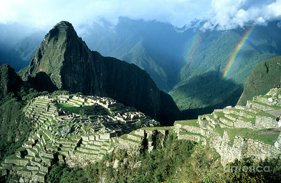Machu Picchu Photograph - Rainbow Over Machu Picchu by James Brunker