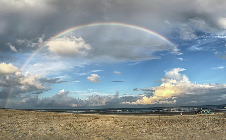Rainbow Over Ocean by Patricia Schaefer