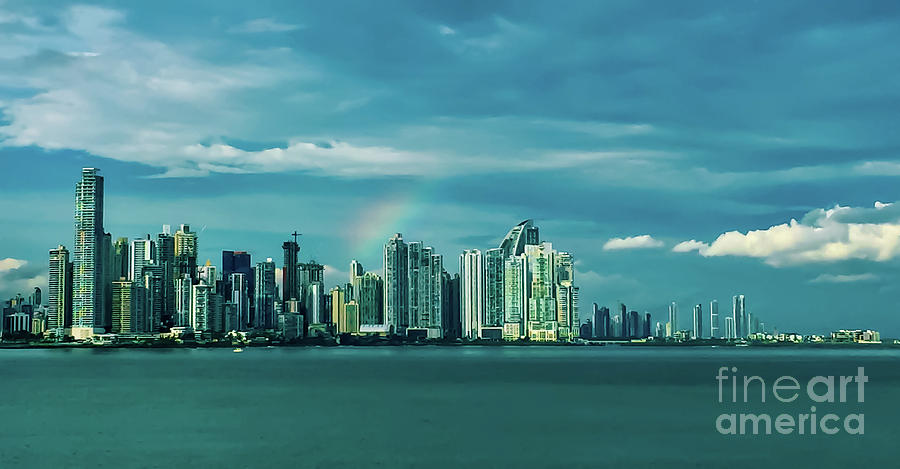 Rainbow Over Panama City by Camille Pascoe