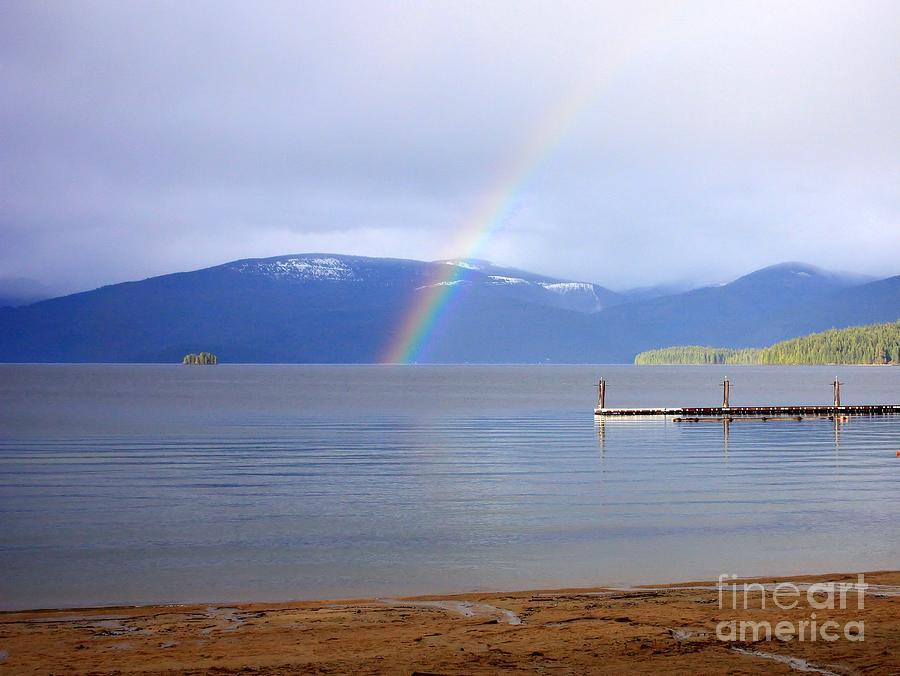 Rainbow Photograph - Rainbow Over Priest Lake by Carol Groenen