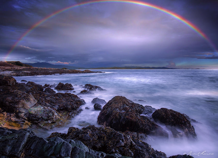 Rainbow over the Biddeford Pool Digital Art by Brent Shavnore