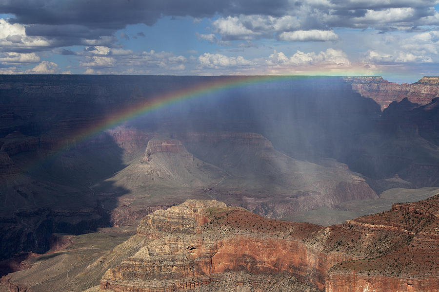 Rainbow Over The Grand Canyon Photograph