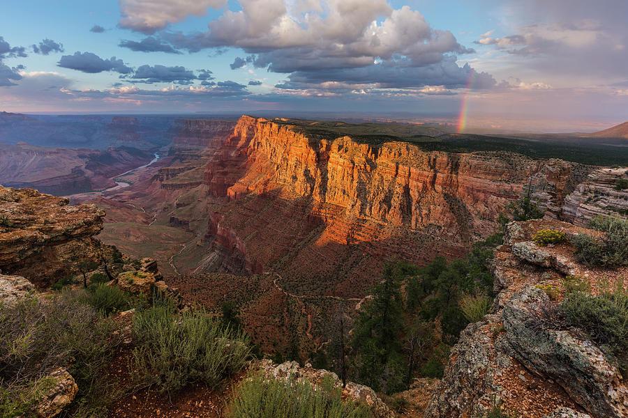 Arizona Photograph - Rainbow Over The Painted Desert by Adam Schallau