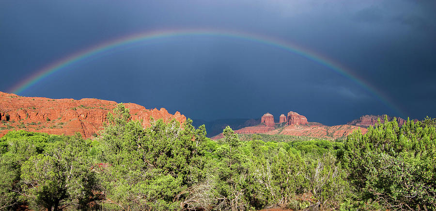 Rainbow Over The Red Rocks by Wayne  Johnson
