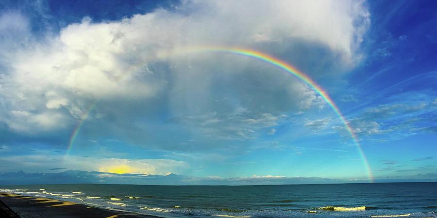 Rainbow over Topsail Island by John Pagliuca