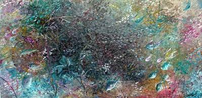 Rainbow Reef Painting by Karin  Dawn Kelshall- Best