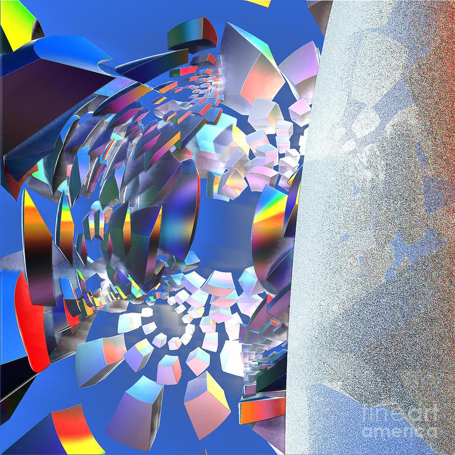 First Star Digital Art - Rainbow Roller Coaster Ride By Jammer by First Star Art