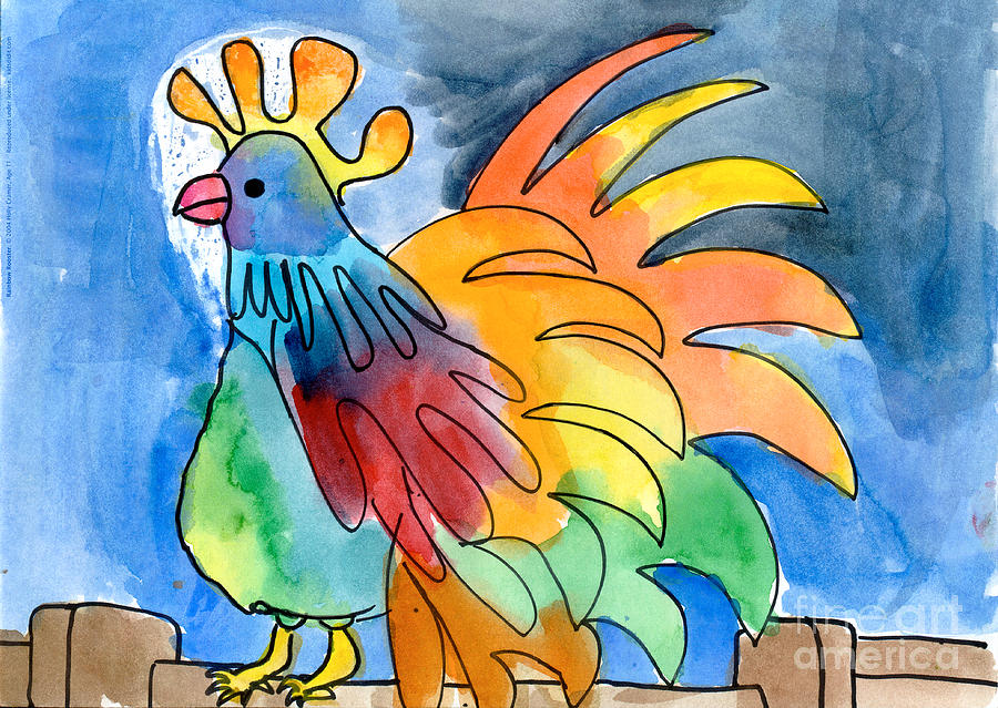 Rainbow Rooster by Holly Cramer Age Eleven
