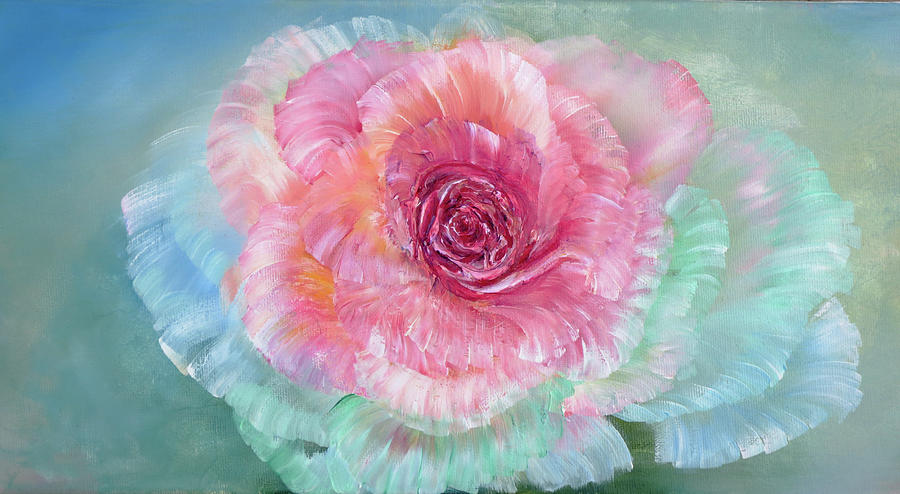 Rainbow Painting - Rainbow Rose by Ann Marie Bone