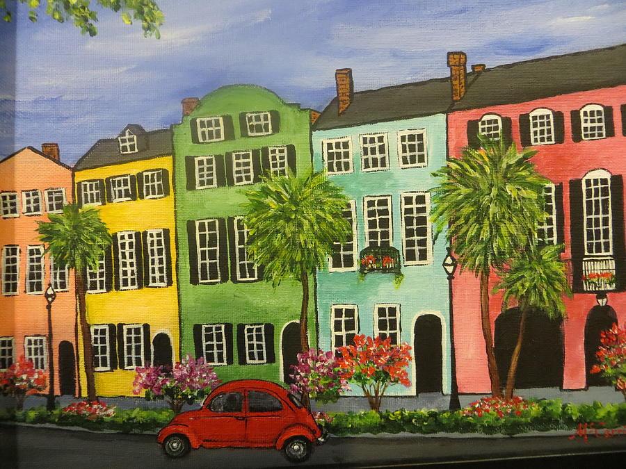 Rainbow Row, Charleston Painting by Susan McCarrick