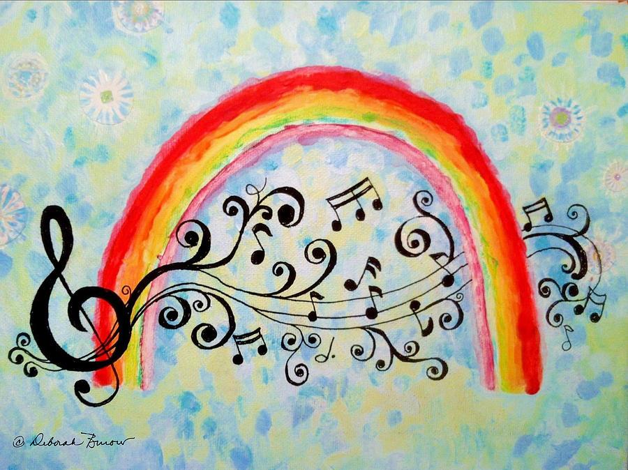 Music Painting - Rainbow Sings by Deborah Burow