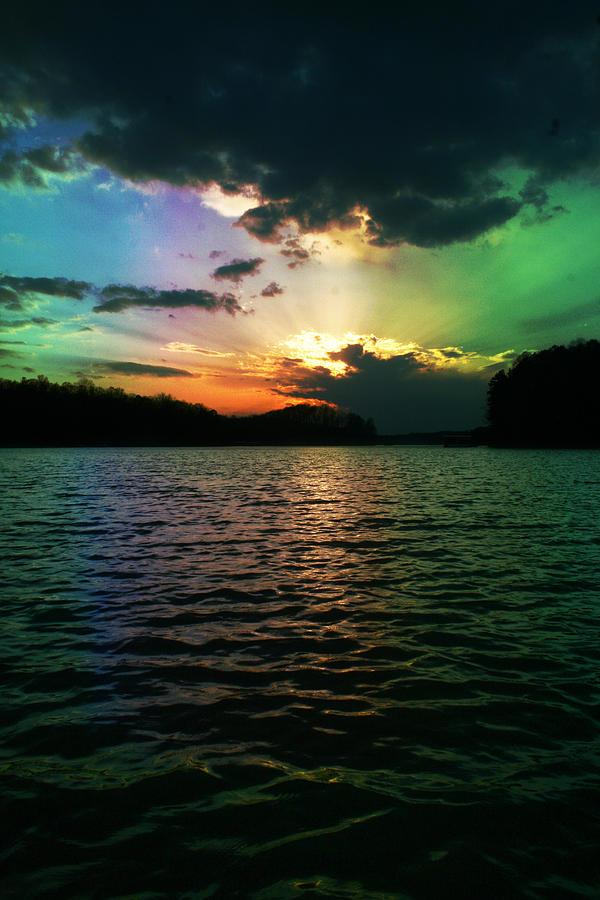 Rainbow Photograph - Rainbow Sunset by Adam LeCroy