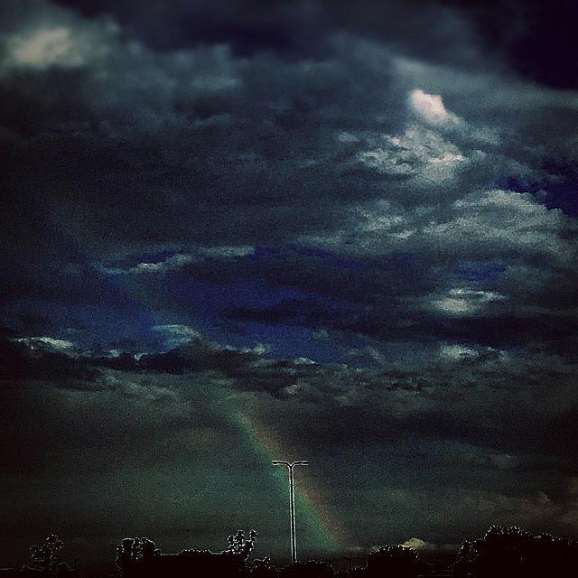 Rainbow Photograph - Rainbow Through The Storm  by Frank J Casella