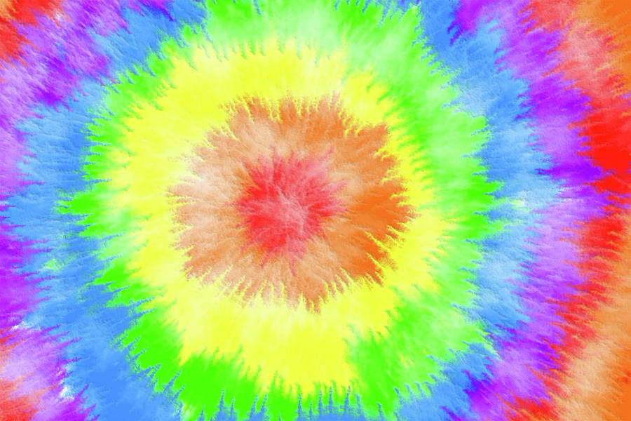 Rainbow Digital Art - Rainbow Tie Dye 001 by Di Designs 59cb736a8