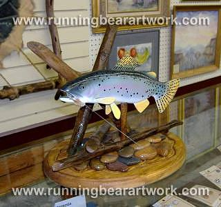Rainbow Trout Sculpture - Rainbow Trout by Michael Meissner