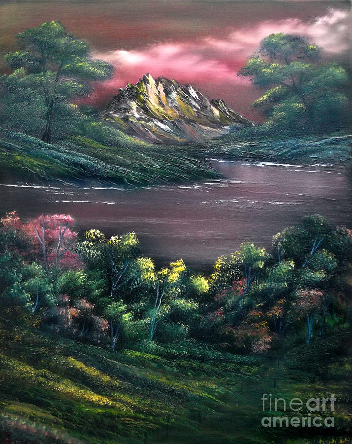 Landscape Painting - Rainbow Valley by Cynthia Adams
