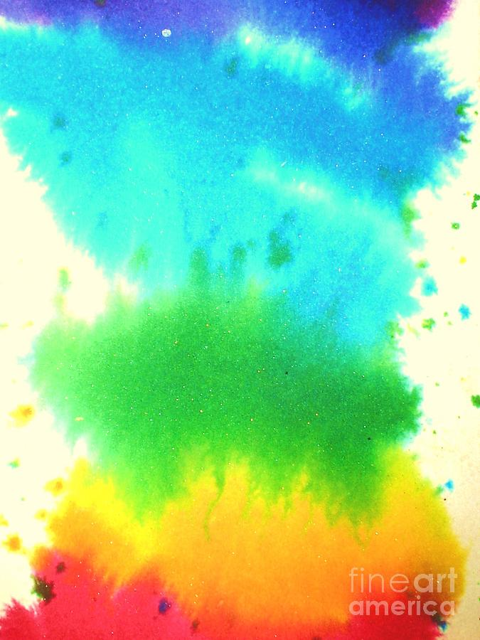 Rainbow's Painting - Rainbow Wash by Chandelle Hazen