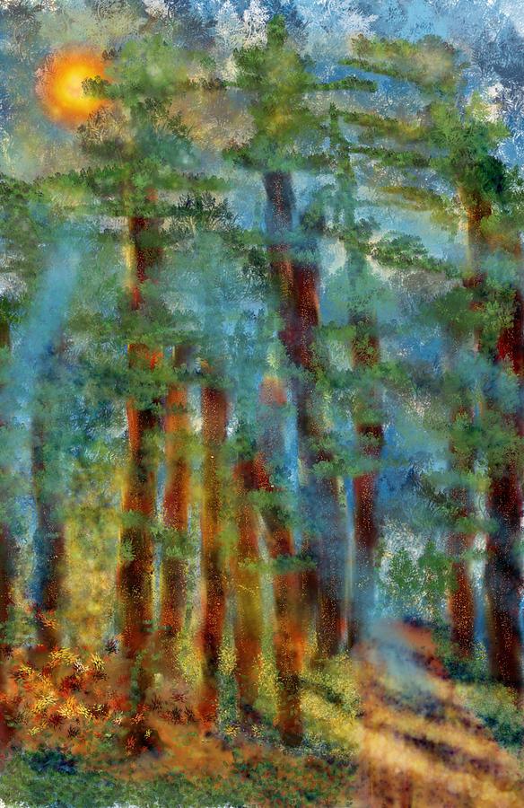 Forest Digital Art - RainbowForest by Kab