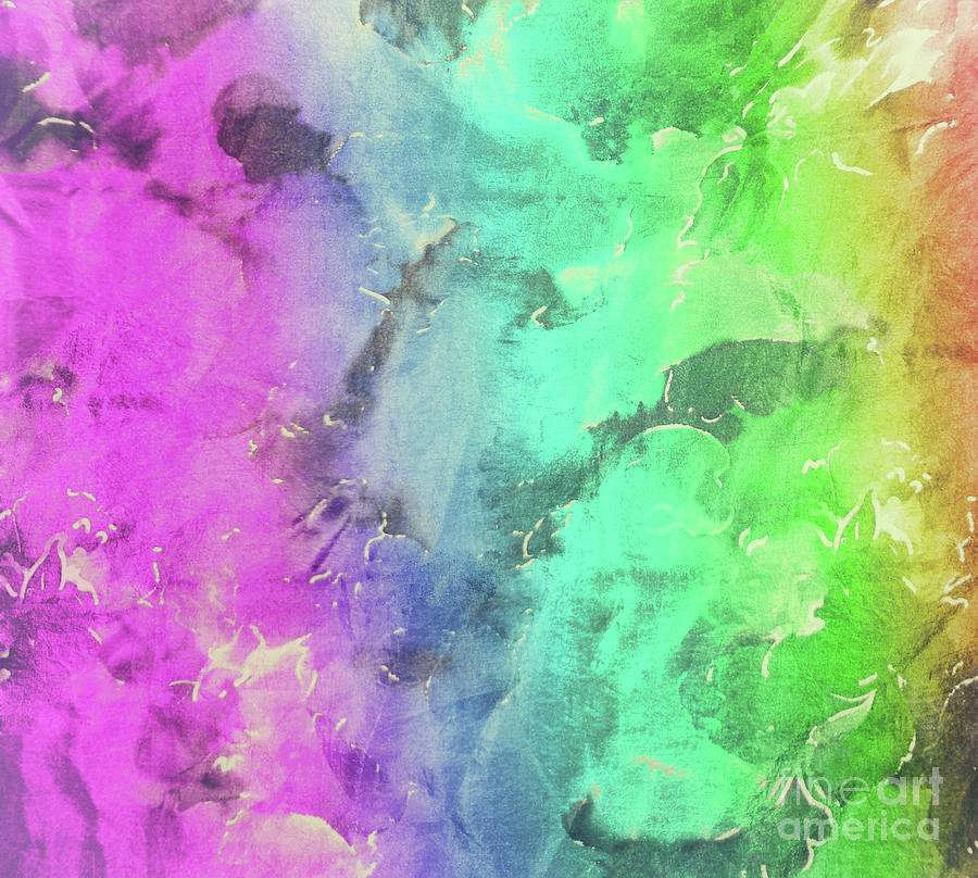 Rainbows And Tiedye Painting