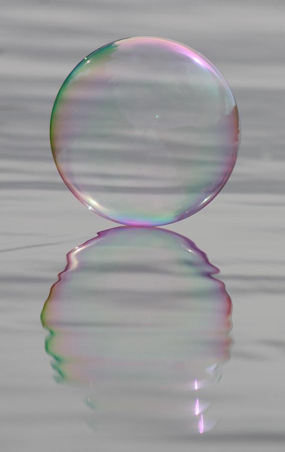 Bubble Photograph - Rainbows Edge Bubble by Cathie Douglas