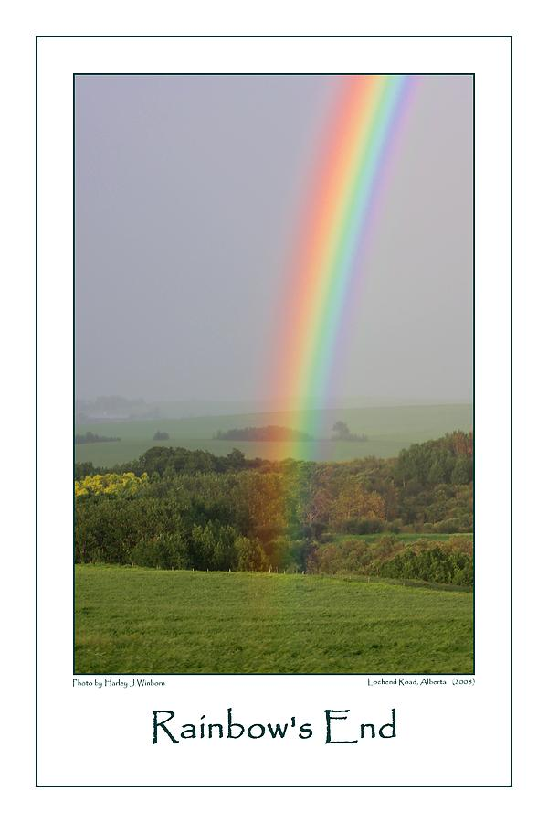 Rainbow Photograph - Rainbows End by Harley J  Winborn