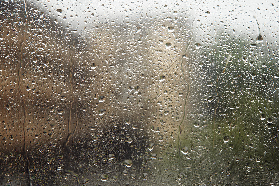 Bad Photograph - Raindrops On Window by Brandon Tabiolo - Printscapes