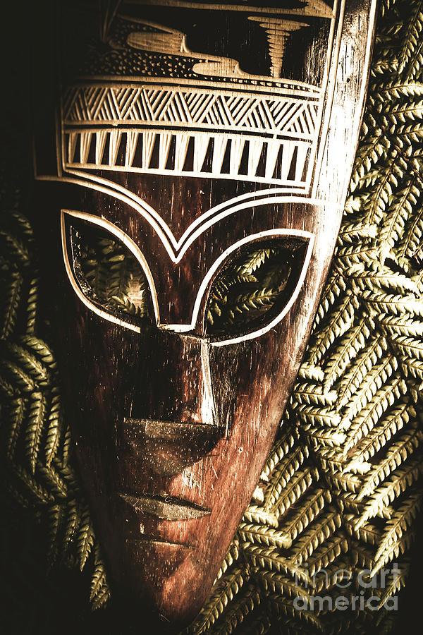 Mask Photograph - Rainforest Tribal Mask by Jorgo Photography - Wall Art Gallery