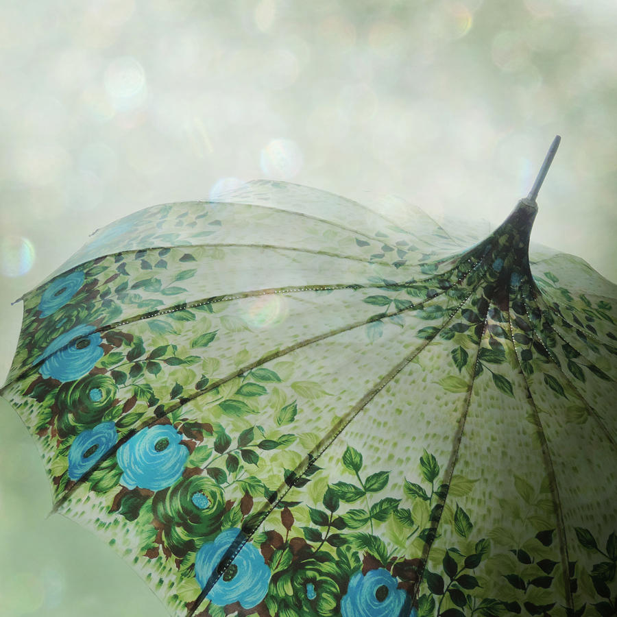 Rain Photograph - Raining Bokeh by Sally Banfill
