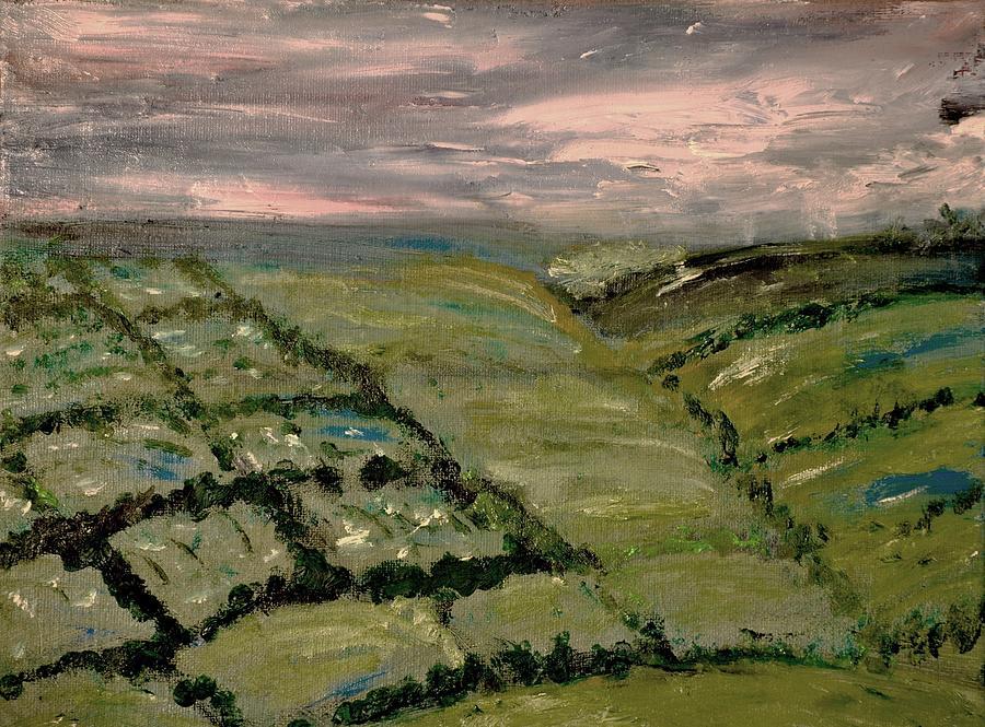 Landscape Painting - Raining by Evelina Popilian