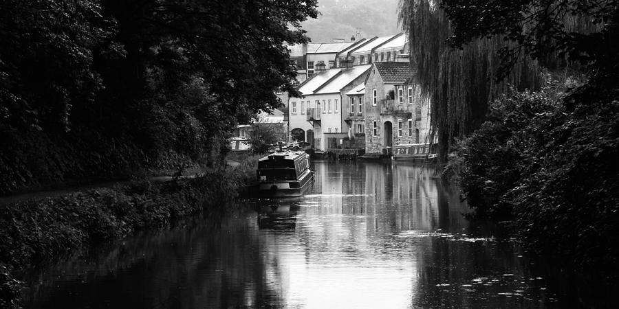 Bath Photograph - Raining On The Canal by Trevor Wintle