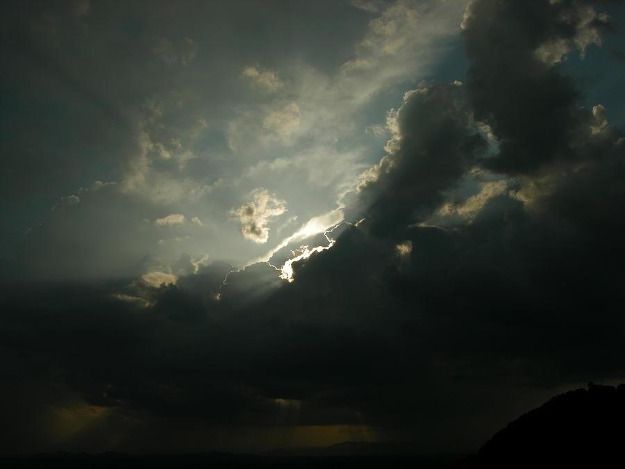 Moon Photograph - Rainmaker by John Geck