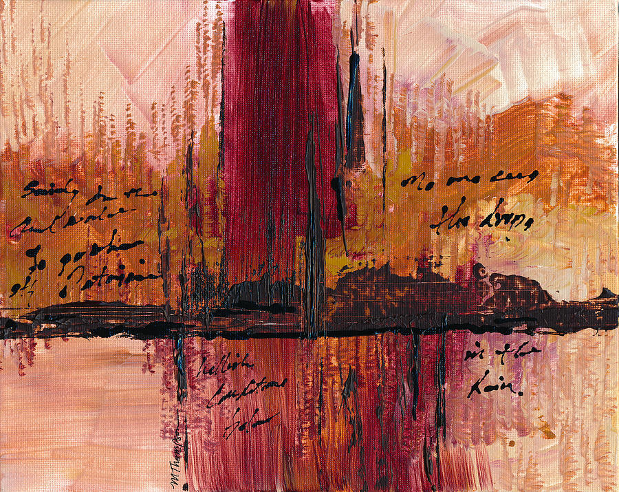 Hell Painting - Rains Down Hell by Mary Elizabeth Thompson