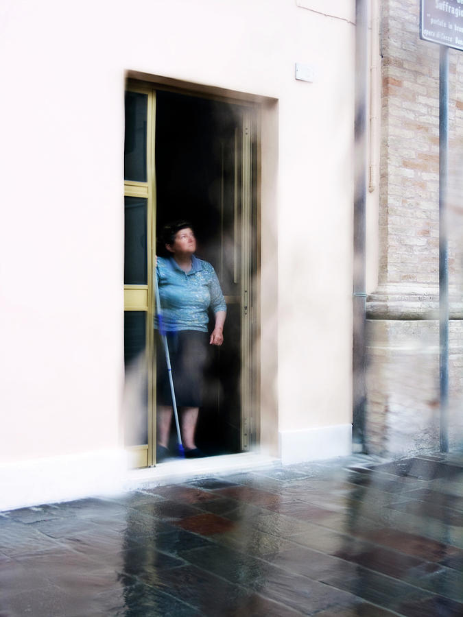Italy Photograph - Rainy Day by Artecco Fine Art Photography
